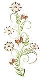 花卉元素 库存照片