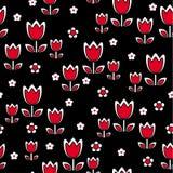 花卉减速火箭的郁金香 免版税库存照片