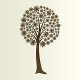 花卉剪影结构树 免版税库存图片