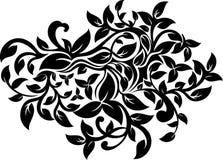 花卉华丽设计 免版税库存照片