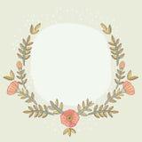 花卉卡片模板 免版税库存图片