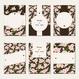 花卉卡片 免版税图库摄影