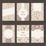 花卉卡片 库存照片
