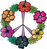 花卉和平标志 免版税库存照片