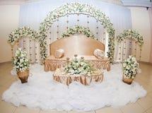 花卉和缎新娘空间 图库摄影