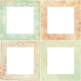 花卉四个框架设置了破旧 免版税库存照片