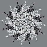 花卉圆的背景 向量例证