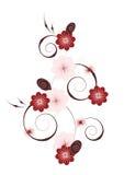 花卉垂直的装饰图案 库存照片