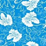 花卉夏威夷模式无缝的向量 库存照片