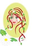 花卉妇女 免版税库存照片