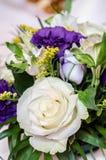 花卉婚礼排列 免版税库存图片