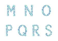 花卉字母表 免版税图库摄影