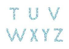 花卉字母表 库存图片