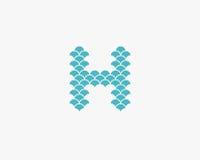 花卉字母表h设计 图库摄影