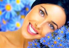 花卉幸福 免版税图库摄影