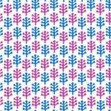 花卉幼稚被画的无缝的纹理。与装饰叶子的样式 免版税库存照片