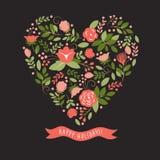 花卉心脏 图库摄影