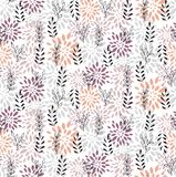 花卉抽象典雅的无缝的传染媒介样式 库存图片