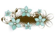 花卉抽象横幅 库存照片