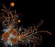 花卉抽象混乱 皇族释放例证