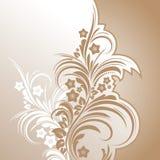 花卉抽象背景设计 免版税库存图片
