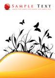花卉抽象背景设计 库存图片