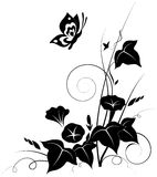 花卉抽象背景 向量例证