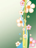 花卉抽象背景 免版税库存图片