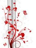 花卉抽象背景 皇族释放例证