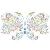 花卉抽象蝴蝶 库存图片