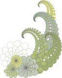 花卉抽象设计 库存例证
