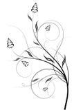 花卉抽象设计 向量例证