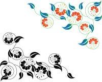 花卉抽象边界 免版税库存照片
