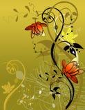 花卉抽象 免版税库存照片