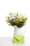 花卉排列信包 图库摄影