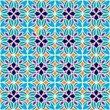 花卉摩洛哥马赛克样式 库存照片