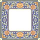 花卉方形的框架 白色空间在中心 库存图片