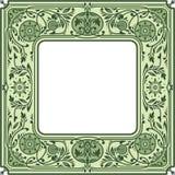 花卉方形的框架 白色空间在中心 免版税库存照片