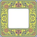 花卉方形的框架 白色空间在中心 免版税图库摄影