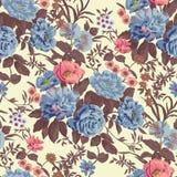 花卉无缝的墙纸 免版税库存照片