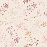 花卉无缝的手拉的样式 免版税库存照片