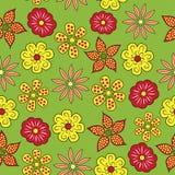花卉无缝的样式。 免版税库存照片