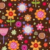 花卉无缝的样式。 库存照片