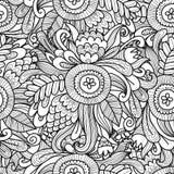 花卉无缝的样式,您的设计的剪影 免版税库存照片