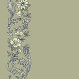 花卉无缝的模式 图库摄影