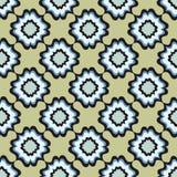 花卉无缝的背景。抽象绿色和蓝色花卉几何无缝的纹理 免版税库存照片