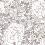 花卉无缝的背景。柔和的花纹花样。 免版税库存图片