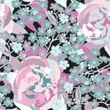 花卉无缝的背景。柔和的花纹花样。 皇族释放例证
