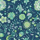 花卉无缝的颜色模式 库存照片