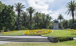 花卉时钟,女王维多利亚庭院,墨尔本,澳大利亚 免版税库存图片